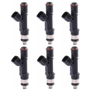 6PCS 4 Holes Fuel Injectors For Jeep Liberty Dodge Dakota Mitsubishi Raider 3.7L
