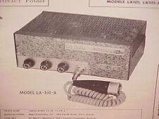 1962 1963 LASALLE La SALLE CB RADIO SERVICE SHOP MANUAL MODELS LA101 & LA101-A