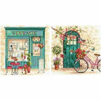 Dimensions Crafts Afternoon in Provence Counted Cross Stitch Kit Set