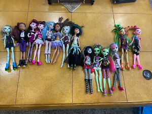 Lot Of 14 Monster High Dolls, 8 -  2008, 4 - 2011 2-2012