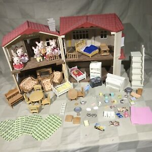 Calico Critters Rabbit Houses Epoch Furniture Dolls Accessories HUGE LOT
