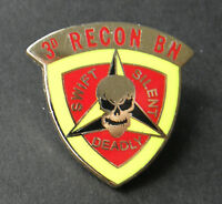 USMC MARINE CORPS MARINES 3RD RECON BATTALION LAPEL PIN BADGE 1 INCH