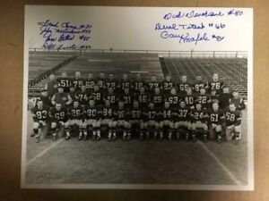 Autographed 1956 Green Bay Packers 8x10 Photo(7 signatures)Fred Cone,Tom Bettis,