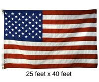 USA America Flag 25 Feet X 40 Feet 25'x40' Huge Large Big Beautiful New