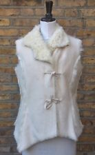 NEXT Women's White Faux Sheepskin Gillet UK 12 EU 40