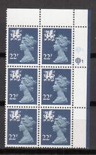 New listing Wales - Questa - 22p Dark Blue - Cyl Q1 Ur x 6 Mnh