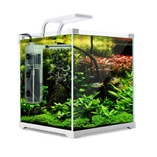 Aquarium Fish Tank Nano Starfire LED Light Complete Set Filter Pump 16l