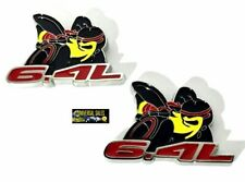 PAIR SUPER BEE SCAT PACK 6.4L EMBLEMS CHALLENGER BADGES FENDER DECALS BRAND NEW