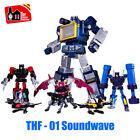 THF 01J 10in Soundwave 01P 6 Tape Cassette Deformable G1 KO mp13 Action Figure