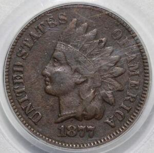 1877 1c Indian Head Cent PCGS F 12