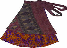 10 Pcs Womens Indian Print Wrap Around Skirt - High Quality