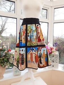 STUNNING NEW *CARNATION RETRO CLOTHING* 1920's INSPIRED PANEL FLARED SKIRT Sz 10