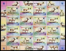 NIGER WORLD WILDLIFE FUND WWF SHEETS OF FOUR BLOCKS OF FOUR (20  STAMPS) MINT NH