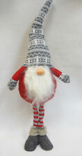 """Christmas GNOME Gray Tall Hat Scandinavian Tomte or Nisse Self Standing 30"""""""