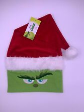 Dr Suess GRiNCH SANTA HAT FURRY Costume The Grinch Movie Universal Studios Adult