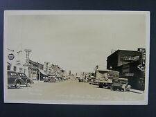 Bend Oregon OR Street View Store Signs Dodge Cars Real Photo Postcard RPPC 1940s