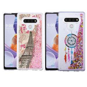 For LG Stylo 6 Bling Hybrid Liquid Glitter Rubber Shockproof TPU Case Cover