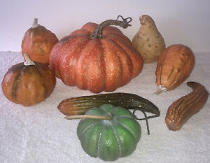 Realistic, Lifelike Size/Scale, Artificial Pumpkins & Gourds, Fall Holiday Decor