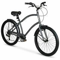 Mens Cruiser Bike 26 Inch Bicycle Lightweight Aluminum Frame Shimano 7 Speeds