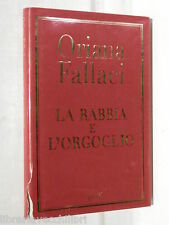 LA RABBIA E L ORGOGLIO Oriana Fallaci Rizzoli 2002 Romanzo Storia Contemporanea
