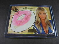 NIKKI ZIERING: 2007 BENCHWARMER GOLD EDITION KISS CARD 6 of 24