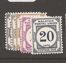Malaysia MPU Postage Due SG D22a,23a-8a MNH (4ath)