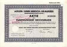 Adler- und Hirsch Brauerei Köln 1931 - Hirsch-Bräu, Dom-Brauerei Funke -