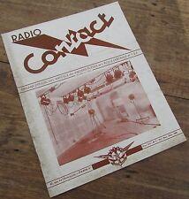 RADIO CONTACT NUMERO 1 OCTOBRE NOVEMBRE DECEMBRE 1946