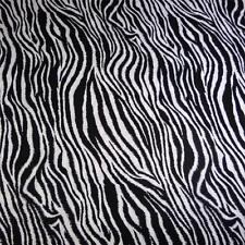 "Quilter's Choice Cotton Fabric, Zebra Print, Black & White, 33"" x 44"""