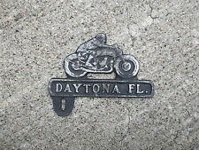 DAYTONA FLAT TRACK RACE MOTORCYCLE LICENSE PLATE TOPPER - HARLEY, INDIAN, BSA