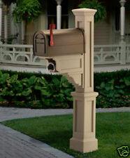 """Mailbox Post """"Dover"""" - Clay - with newspaper holder"""