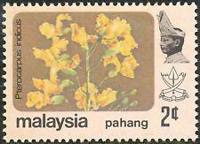 MALAIISCHE STAATEN PAHANG 1979 Blüten 2 C Pterocarpus indicus ** ABART DRY PRINT