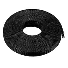 16mm Pet Cable Wire Wrap Expandable Braided Sleeving Black 5m Length