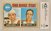 1968 Topps Johnny Bench Rookie Card #247 PSA BCCG Graded 8 EX-MT Epic Card!!