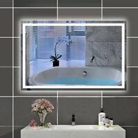 LED Spiegel 90×60 cm Touch Anti-Beschlag Warmweiß 6000K Badspiegel Wandspiegel