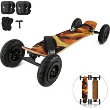 95X Mountainboard Skateboard Longboard 37x8inch Off Road Knobby Tires w/ Flame