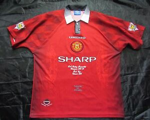 MANCHESTER UNITED FA Cup Winners/ Premiership Champions 1995-1996 UMBRO adult XL