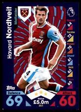 Match Attax 2016-2017 Havard Nordtveit West Ham United Base card No. 351