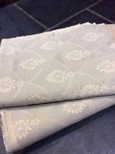 4.60m Pale Green Jacquard Fleur De Lys Fabric Curtains FREE POST