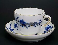 Meissen Blue Dragon Gold Trim Demitasse Cup Saucer