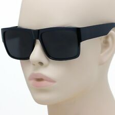 Large Square CHOLO Sunglasses Super Dark OG LOCS Style GANGSTER Style Black NEW