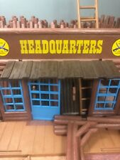 Vintage Playmobil Western Town Headquarters 3rd U.S. Calvary Fort Bravo Set (5)