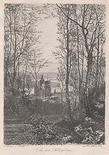 Bernhard Mannfeld: Aus dem Siebengebirge. Radierung, 1894