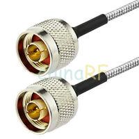 N male to N male plug pigtail semi-rigid cable RG402 15cm custom length