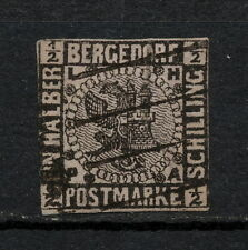 (YYAA 472) Bergedorf 1861 - 1867 USED GERMANY German states
