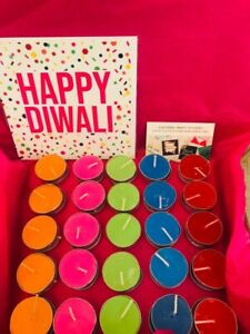 Diwali Candle Hamper Brights and Neon Tealight Pack x50 tea lights