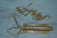 Vintage / Antique Spring Load Lock Latch Pull Chain Barn Gate Door Hardware