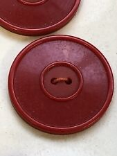 Vintage Buttons Red  X 3