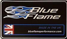 Blueflame Large UK Exhaust Silencer Label Sticker    Genuine Blueflame
