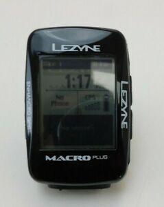 Lezyne Macro Plus GPS unit for cycling EX DEMO